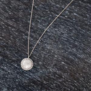SILPADA N3445 SS Hammered Etched Circle Necklace